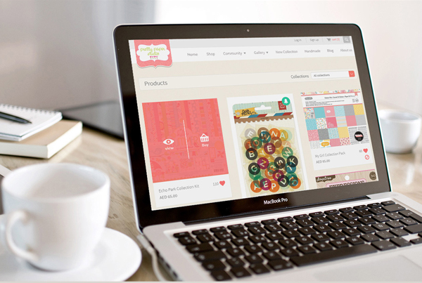 E-commerce website til Pretty paper studio