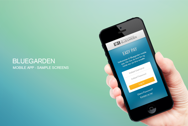 Bluegarden app design